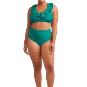 Terra & Sky Cabo Ruffle Bikini Swimsuit